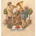 """Heinz Geilfus Herz-Postkarte Nr. 10 --  """"Liebling, mein Herz läßt dich grüßen!"""""""