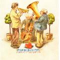Postkarte 2308 mit einem Motiv vom Bad Nauheimer Maler Heinz Geilfus aus dem Besitz von Galeristin und Referentin Anne Marie Mörler, Galerie Remise in Bad Nauheim