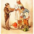 Postkarte 2204 mit einem Motiv vom Bad Nauheimer Maler Heinz Geilfus aus dem Besitz von Galeristin und Referentin Anne Marie Mörler, Galerie Remise in Bad Nauheim