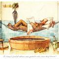 Postkarte 2310 mit einem Motiv vom Bad Nauheimer Maler Heinz Geilfus aus dem Besitz von Galeristin und Referentin Anne Marie Mörler, Galerie Remise in Bad Nauheim
