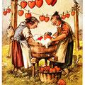 Postkarte 2203 mit einem Motiv vom Bad Nauheimer Maler Heinz Geilfus aus dem Besitz von Galeristin und Referentin Anne Marie Mörler, Galerie Remise in Bad Nauheim