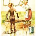 Postkarte 2306 mit einem Motiv vom Bad Nauheimer Maler Heinz Geilfus aus dem Besitz von Galeristin und Referentin Anne Marie Mörler, Galerie Remise in Bad Nauheim