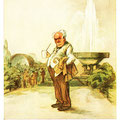 Postkarte 2313 mit einem Motiv vom Bad Nauheimer Maler Heinz Geilfus aus dem Besitz von Galeristin und Referentin Anne Marie Mörler, Galerie Remise in Bad Nauheim