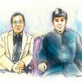 水彩画 人物 日本 歌謡曲 歌手 作曲家 昭和 新聞挿絵 スター 清水博正
