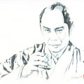 水彩画 人物 時代劇 江戸 日本 和風