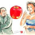 水彩画 人物 日本 歌謡曲 歌手 作曲家 昭和 新聞挿絵 スター  サトウハチロウ