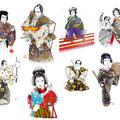 歌舞伎 俊寛 イラスト 挿絵 役者絵  和風 日本 リアル 伝統芸能