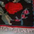 Tappeto trieste-eseguito restauro di kilim caucasico di garabagh