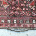 Tappeti tabriz carpet, bordo tappeto, tappeto persiano staccato bordo da ripristinare