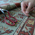 Restauro frange tappeto trieste-riparazione testate di tappeto turco