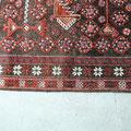 Tabriz carpet, tappeto persiano dopo di riparazione bordo staccato