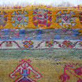 Restauro tappeto antico trieste, tappeto antico turco del 800, consumato con usura e tempo e mancano alcuni zona nodi