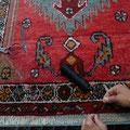Tappeto trieste, riparazione tappeto persiano parte di frangia