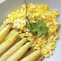 白いアスパラガス、卵を添えて「ヴェネト風」といいます