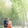 広大な竹林が広がる中で特別な時間を