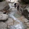 きれいなナメ滝