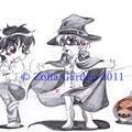 Halloween - Chibis - A5 - Print möglich