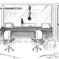 Das Aufnahmestudio von Akt 3