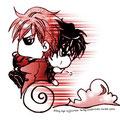 Chibi-Dan trägt seinen geliebten Norio weiß der Teufel wohin XDD
