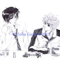 Norio und Ben mit Sushi - Print möglich