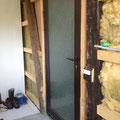 1. Etappe:Eingangsbereich isolieren und vorbereiten für neue Türe