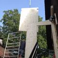 1. Etappe: Aufbau des neuen Windfangs