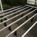 Terrassendielen-Unterkonstruktion aus