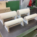 Holzträmeli für Hundehalsbänder WÄHREND DER ARBEIT