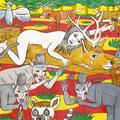 森へいこう! 2007年 紙に墨、水彩 25.7×36.4cm