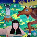 夜の音楽 2013年 キャンバスにアクリル 80.3×80.3cm