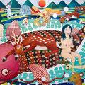暴れ鯰と女たち 2012年 キャンバスにアクリル 145×224cm