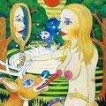鏡の中のあたし 2009年 キャンバスにアクリル 41×32cm