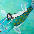 鯰上生活者 2012年 キャンバスにアクリル 73×91cm