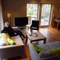 Fachwerkhaus - Sitzecke mit Fernseher