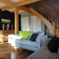Fachwerkhaus - Treppe im Wohnzimmer