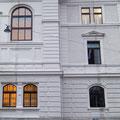 Gesamtansicht Hauptfasade Musterachse Landesgericht Salzburg