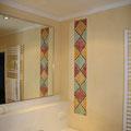 Raumgestaltung mit Frescomalerei (Wandflächen in Kalk)