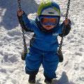 Daniel im Kinderland in der Wildkogel Arena