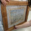 5日コースの午後の作業-DAY4 木枠から絵を切りとる