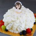 プリンセス(15cm) ショートケーキベースのお姫さま仕上げ