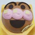 特注ケーキ アンパンマン風チョコクリームデコレーション