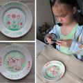 Подарочные тарелки. Фаянс, фломастеры для керамики