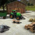 Der Traktor und die Hindernisse auf einen Blick