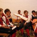 Musiker während des Gottesdienstes