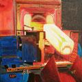 """Schmiedeblock"", 40 x 40 cm, Acryl auf Leinwand, 2007"