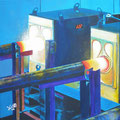 """Glühstücke"", 40 x 40 cm, Acryl auf Leinwand, 2007"