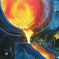 """""""Fließendes Eisen"""", 40 x 40 cm, Acryl auf Leinwand, 2007"""