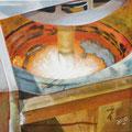 """""""Pfannenfeuer"""", 40 x 40 cm, Acryl auf Leinwand, 2007"""