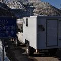 Unser fahrbares Heim auf dem Gotthardpass