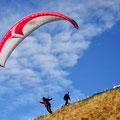 Paraglider auf dem Monte Generoso